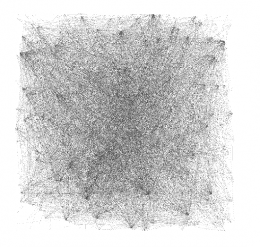 Facebook group - random node layout in Gephi