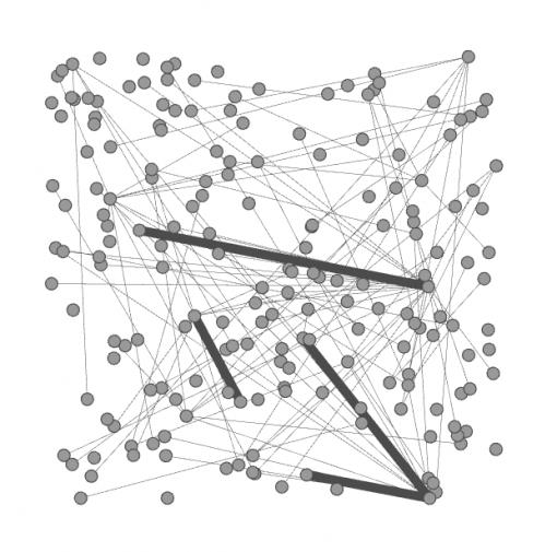 Random layout Tumblr graph