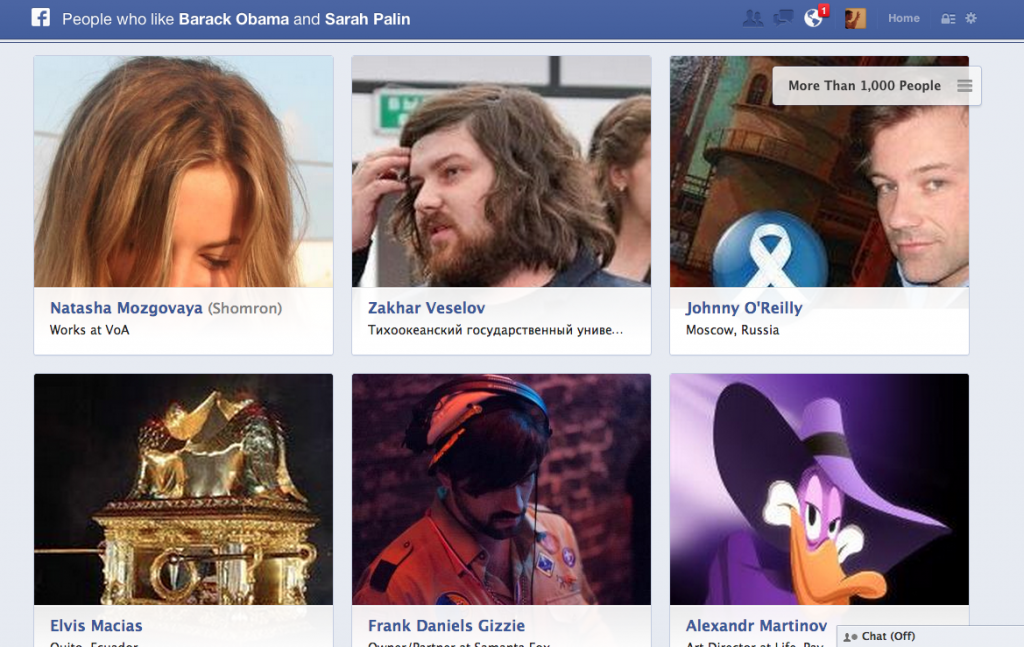 Facebook Graph Search politics