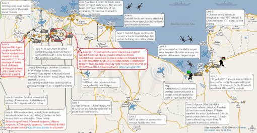 aviationist.com map NATO attacks on Libya